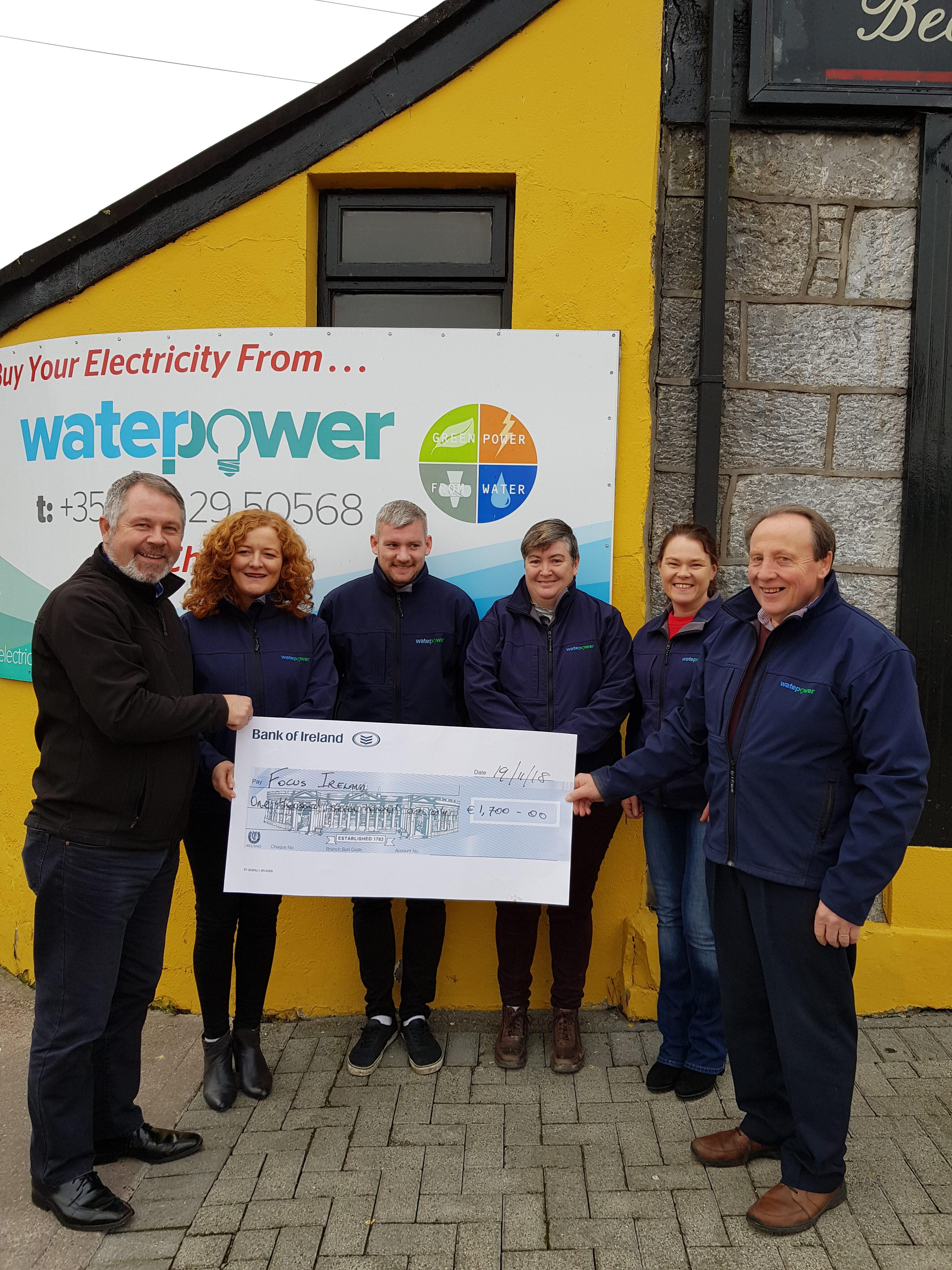 focus Ireland cheque handover