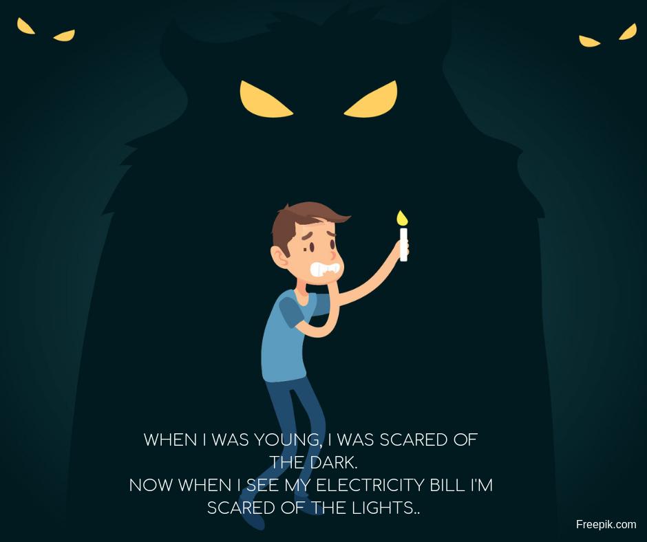 boy scared of the dark