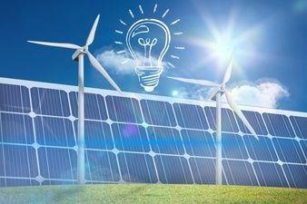 bulb with solar panel